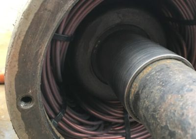 Przezwojony silnik pompy głębinowej