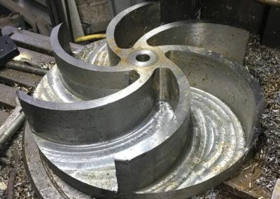 Wirnik pompy KSB Amarex 30 kW średnica 250mm, wysokość piór 50 mm, stal stopowa odporna na ścieranie
